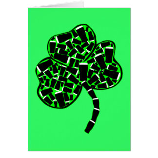 シャムロックおよびアイルランドビール カード