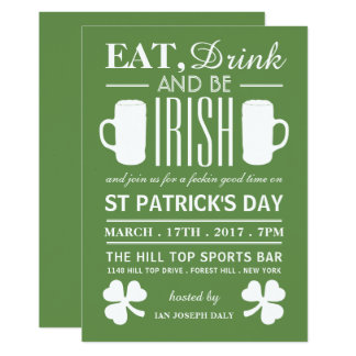 シャムロックおよびビールアイルランド人のセントパトリックの日 カード