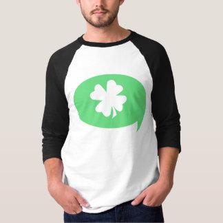 シャムロックのスピーチの泡 Tシャツ