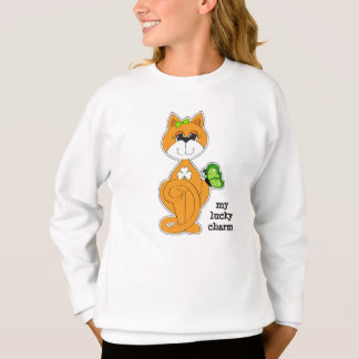 シャムロックのセントパトリックの日のスエットシャツが付いている子猫 スウェットシャツ