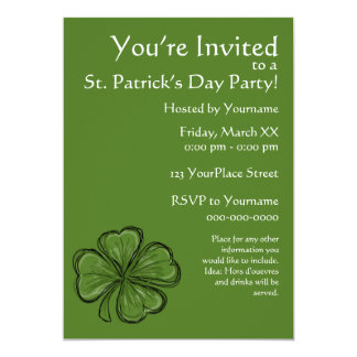 シャムロックのセントパトリックの日のパーティー カード
