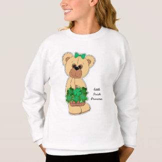 シャムロックのセントパトリックの日のTシャツを持つテディー・ベア スウェットシャツ