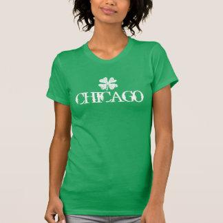 シャムロックのロゴのシカゴSt patricks dayのTシャツ Tシャツ