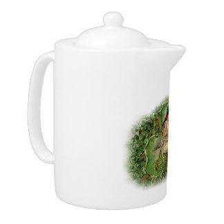 シャムロックの妖精の茶ポット- 1