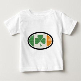 シャムロックの旗の楕円形 ベビーTシャツ