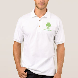 シャムロックの水玉模様St. Patricks日のポロシャツ ポロシャツ