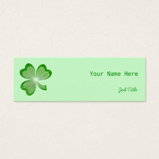 シャムロックの細い緑の名刺の側面 スキニー名刺