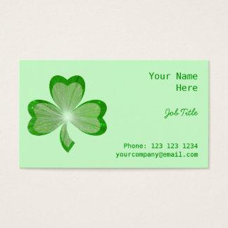 シャムロックの緑の名刺の側面 名刺