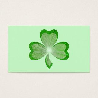 シャムロックの緑の名刺 名刺