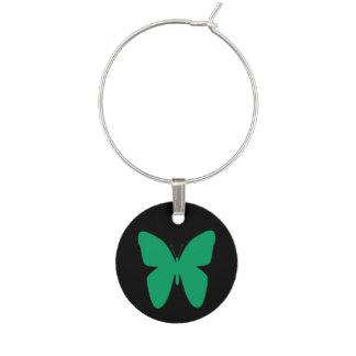 シャムロックの緑の蝶 ワインチャーム