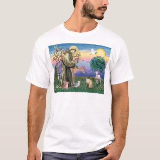 シャム猫およびSt. Francis Tシャツ