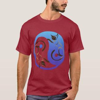 シャム猫のインおよびYangTワイシャツ Tシャツ