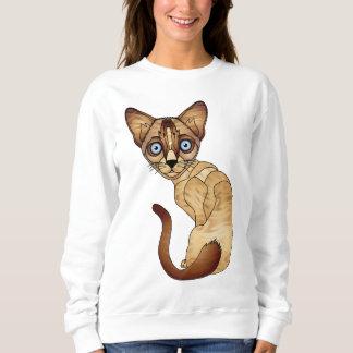 シャム猫のスエットシャツ スウェットシャツ