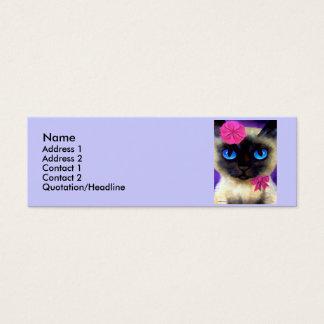 シャム猫のプロフィールカード スキニー名刺