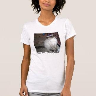 シャム猫のワイシャツ Tシャツ