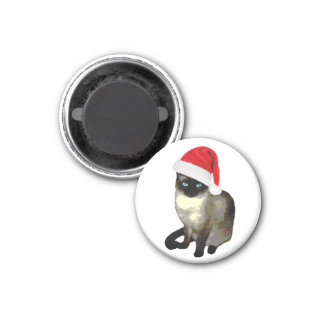 シャム猫の休日のクリスマスの磁石 マグネット