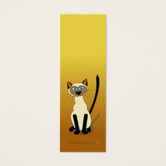 シャム猫の小型しおり(ブラウン) スキニー名刺