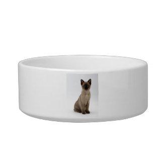 シャム猫の着席のペットボウル ボウル