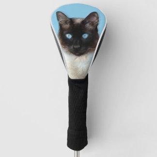 シャム猫の絵画-かわいい元の猫の芸術 ゴルフヘッドカバー