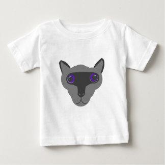 シャム猫の表面 ベビーTシャツ
