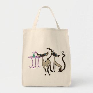 シャム猫の買い物袋 トートバッグ