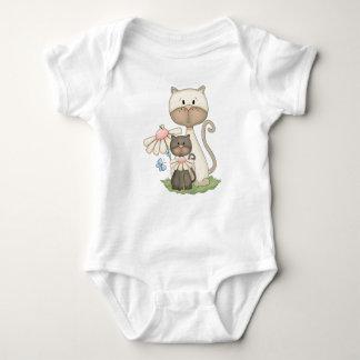 シャム猫の赤ん坊の猫ちゃんペット子ネコ動物 ベビーボディスーツ