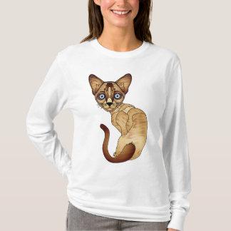 シャム猫の長袖のTシャツ Tシャツ