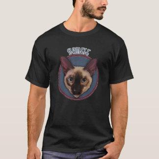 シャム猫の顔 Tシャツ