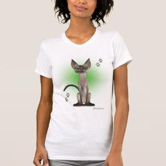 シャム猫のTシャツ Tシャツ