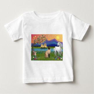 シャム猫-ファンタジーの土地 ベビーTシャツ