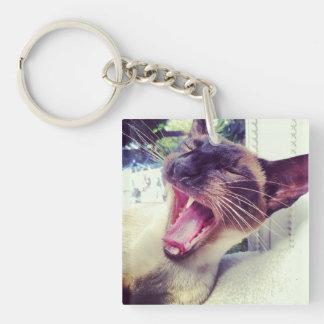 シャム猫Pin Keychain キーホルダー