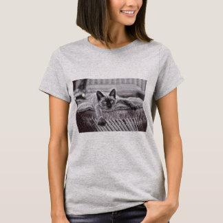 シャムCat_1女性のTシャツ Tシャツ