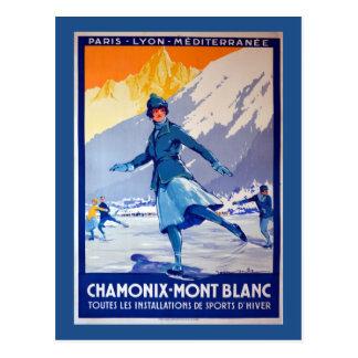 シャモニー、スイス連邦共和国のヴィンテージ旅行ポスター ポストカード
