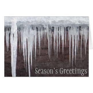 シャレーの屋根を離れたつらら-季節の挨拶Card2 カード