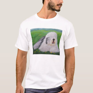 シャロンNummer著古い英国の牧羊犬のTシャツ Tシャツ