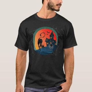 シャロンSHARPE著お化け屋敷、くも、くもの巣及びCAT Tシャツ