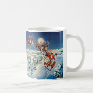 シャロンSHARPE著サンタ及びそり コーヒーマグカップ