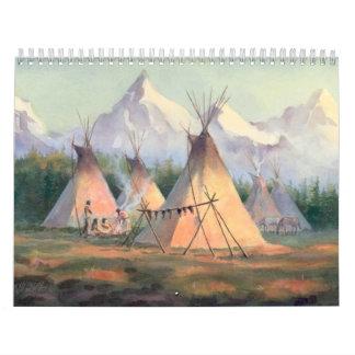 シャロンSHARPE著ネイティブアメリカンのカレンダー カレンダー
