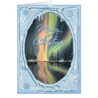 シャロンSHARPE著メリークリスマスのNORTHERN LIGHTS カード
