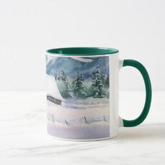 シャロンSHARPE著冬の納屋 マグカップ