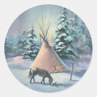 シャロンSHARPE著冬のAPPALOOSAのTIPI ラウンドシール