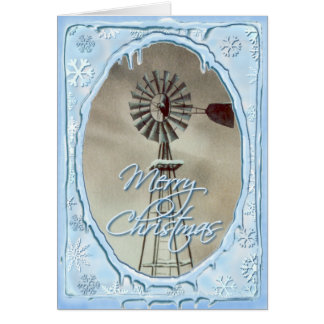 シャロンSHARPE著古い風車及びつらら カード
