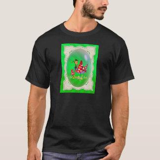 シャロンSHARPE著小妖精や小人、レースおよび光線 Tシャツ