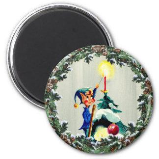 シャロンSHARPE著小妖精や小人、円錐形及びクリスマスツリー マグネット