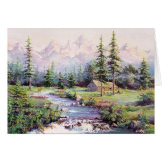 シャロンSHARPE著山の小屋 カード