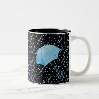 シャロンSHARPE著愛の青い傘のシャワー ツートーンマグカップ