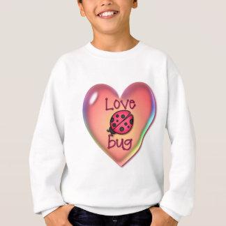 シャロンSHARPE著愛虫及びハートの泡 スウェットシャツ