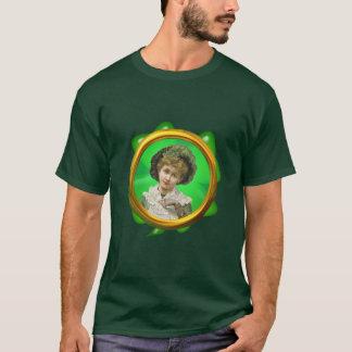 シャロンSHARPE著緑のボンネット及びシャムロック Tシャツ