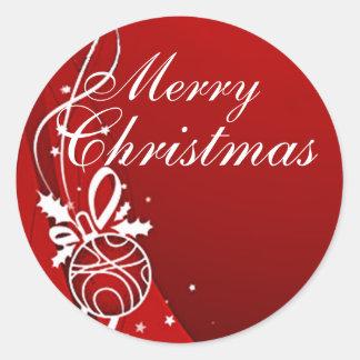 シャロンSHARPE著赤のメリークリスマス ラウンドシール