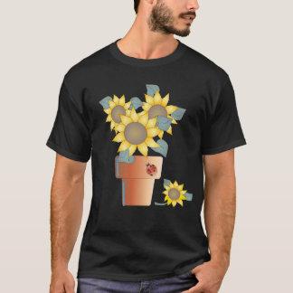 シャロンSHARPE著鉢植えな日曜日 Tシャツ